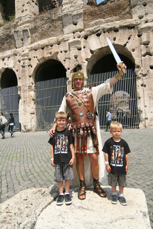 Rome For A Day With Two Little Gladiators In Tow