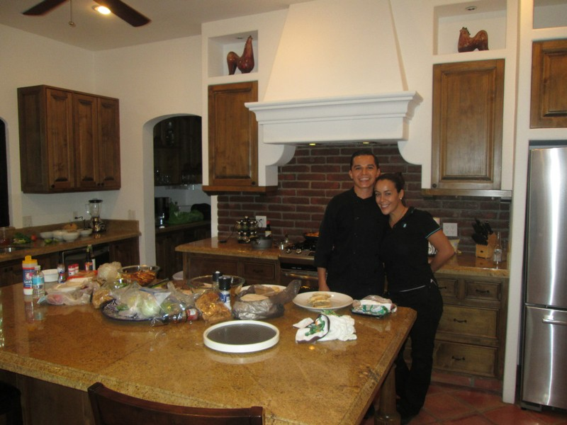 The kitchen in our Cabo San Lucas rental was beautiful.  We even hired private chefs to prepare our dinner one night.